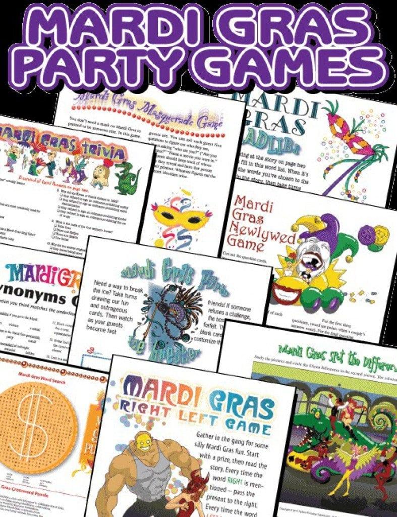 Free Printable Mardi Gras Birthday Invitations 5