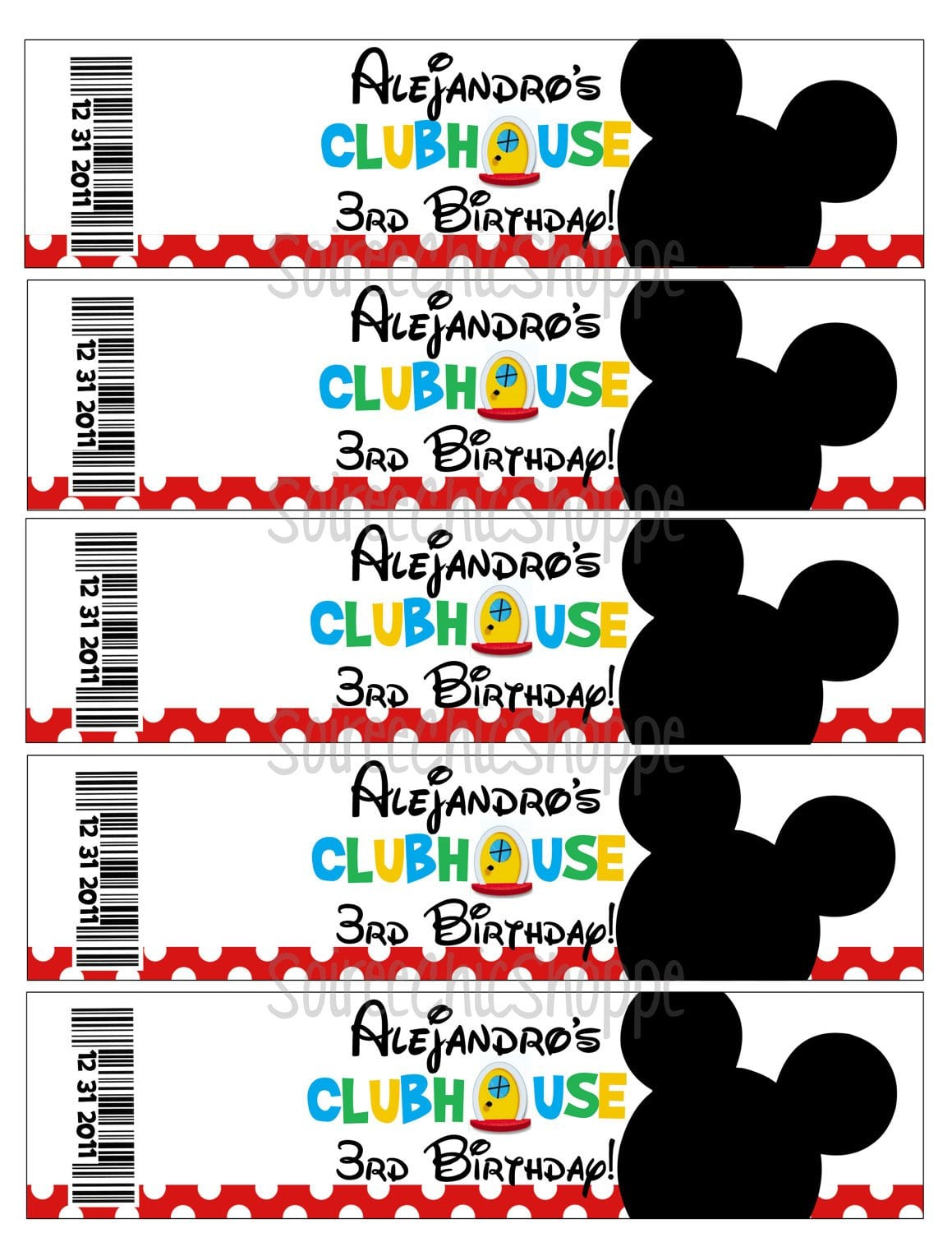 Free Printable Mickey Mouse Clubhouse Decorations