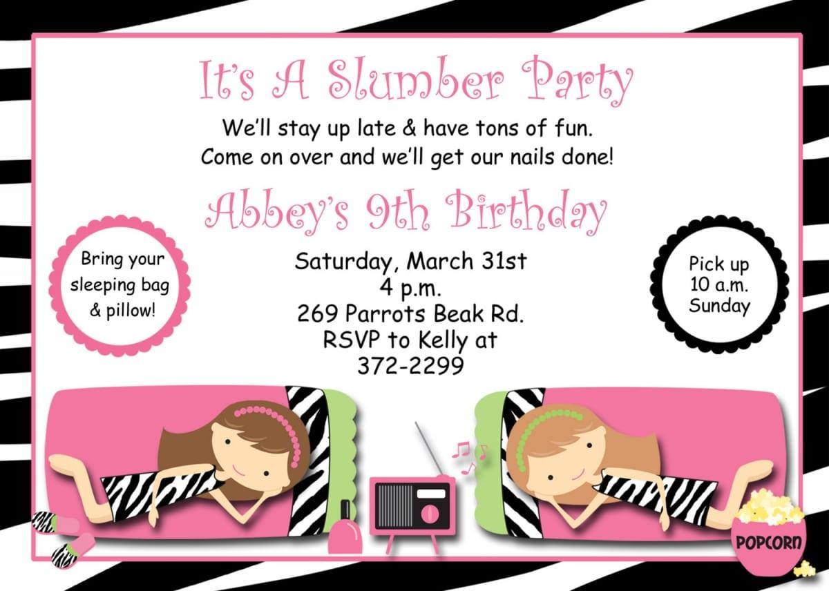 Free Printable Pajama Party Invitation Templates