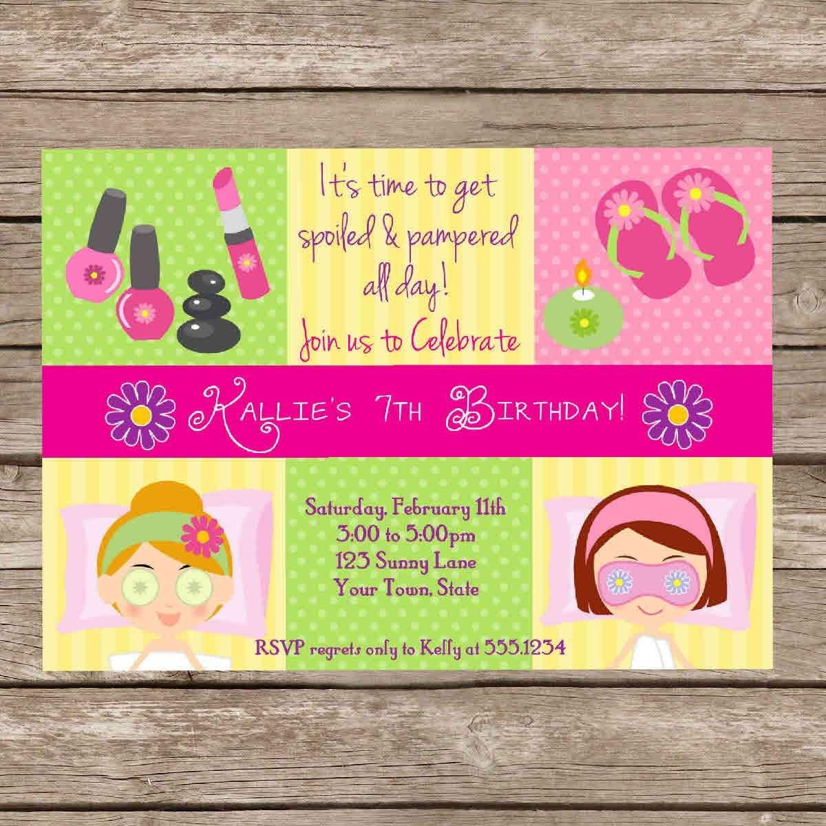 Spa Invitation Wording as perfect invitations template
