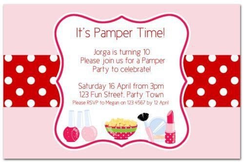 Free Printable Pamper Party Invitations Girls 5