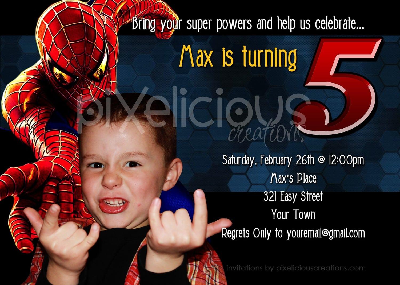 Free Printable Personalized Spiderman Invitations