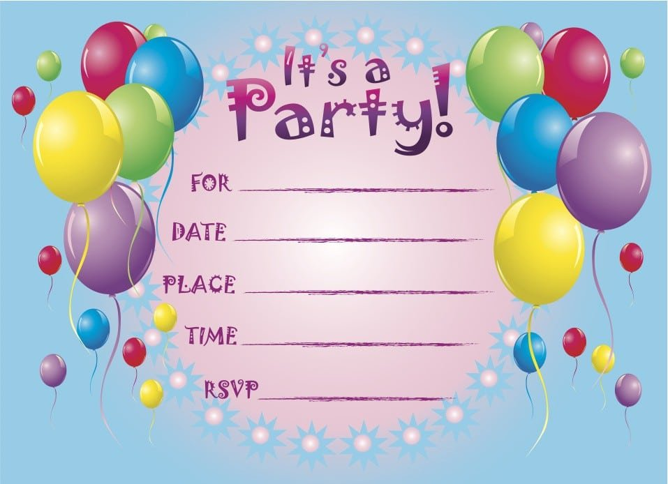 Free Printable Pool Party Invitations For Kids 2