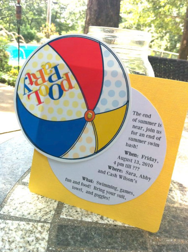 Free Printable Pool Party Invitations For Kids 3