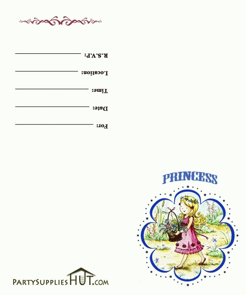 Free Printable Princess Tea Party Invitations Templates 5
