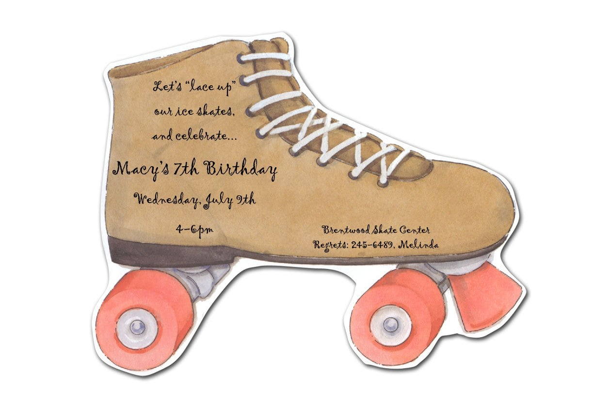 Free Printable Roller Skating Birthday Invitations