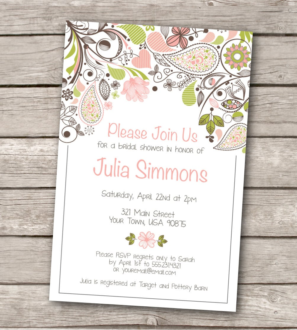 Free Printable Wedding Inv – Free Printable Wedding Shower Invitations Templates