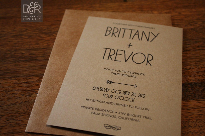 Free Printable Rustic Wedding Invitation Templates