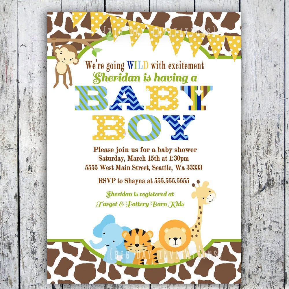 free printable safari birthday invitations - Tikir.reitschule-pegasus.co