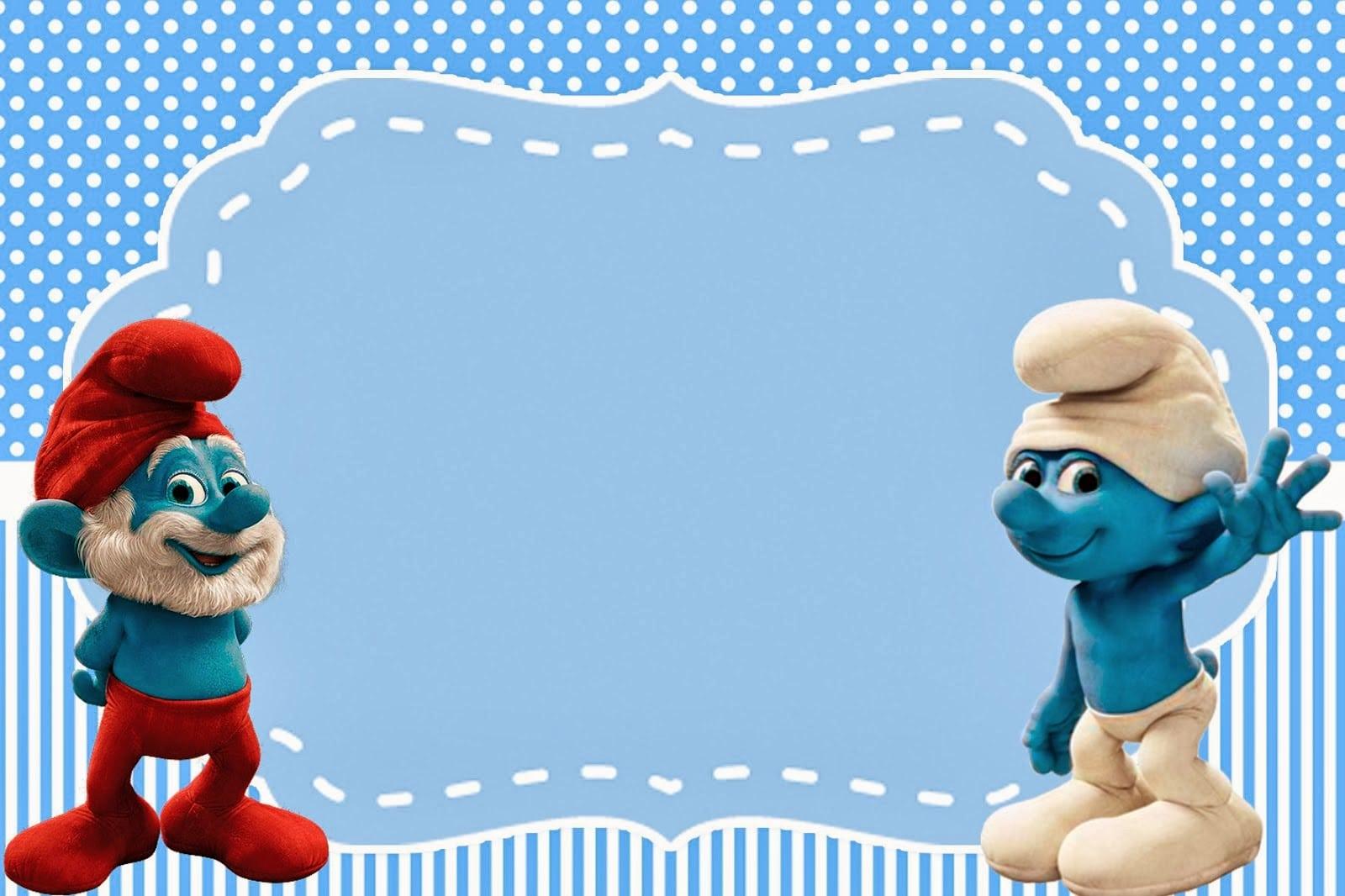 Free Printable Smurf Birthday Party Invitations