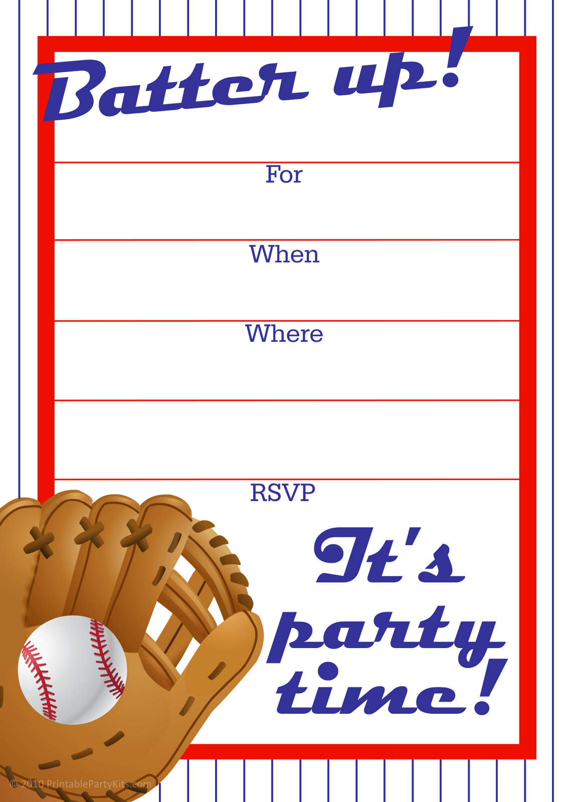 Free Printable Sports Birthday Party Invitation Templates
