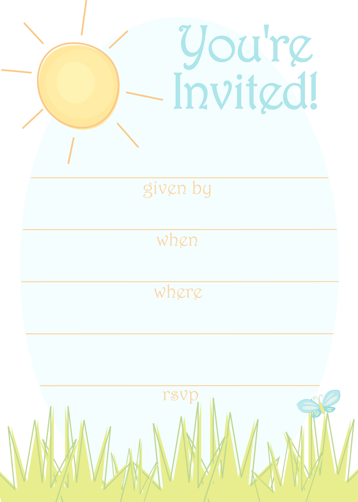 Free Printable Summer Party Invitation Templates