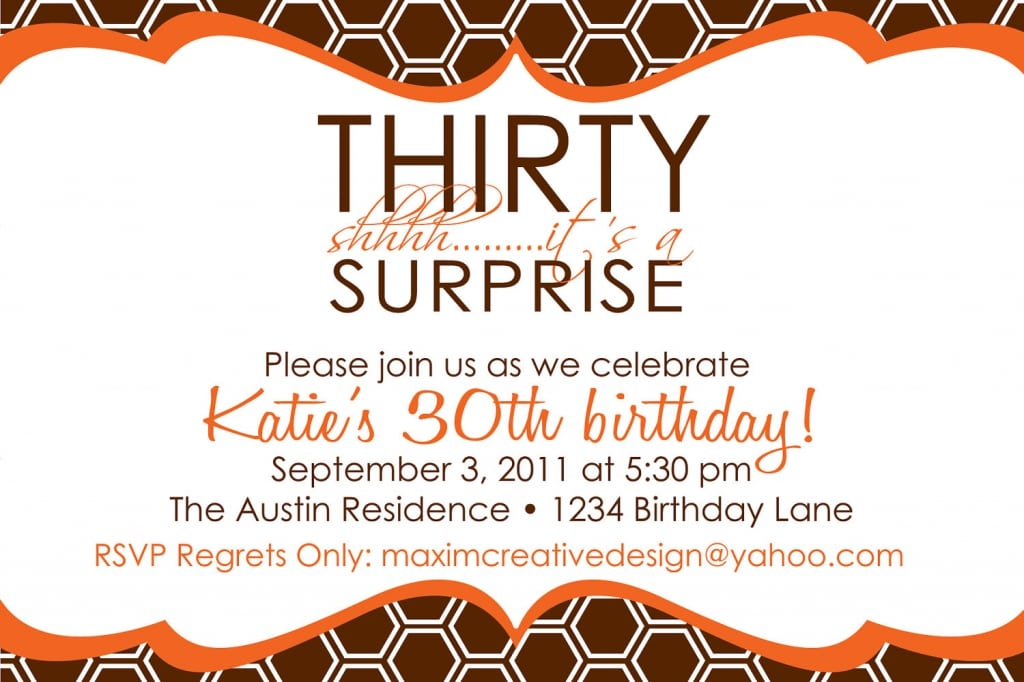 30th Birthday Invitations Free Printable