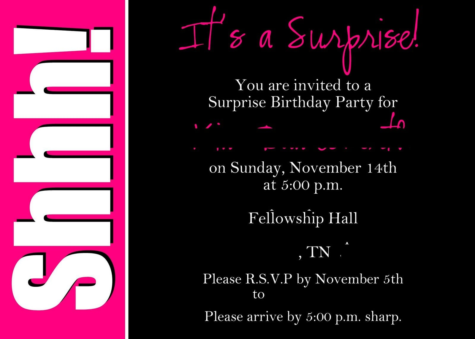 Printable Surprise 40th Birthday Party Invitations