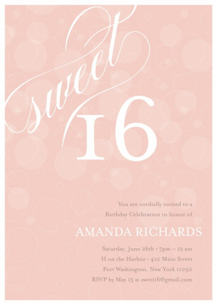 Free Printable Sweet 16 Invitation Templates