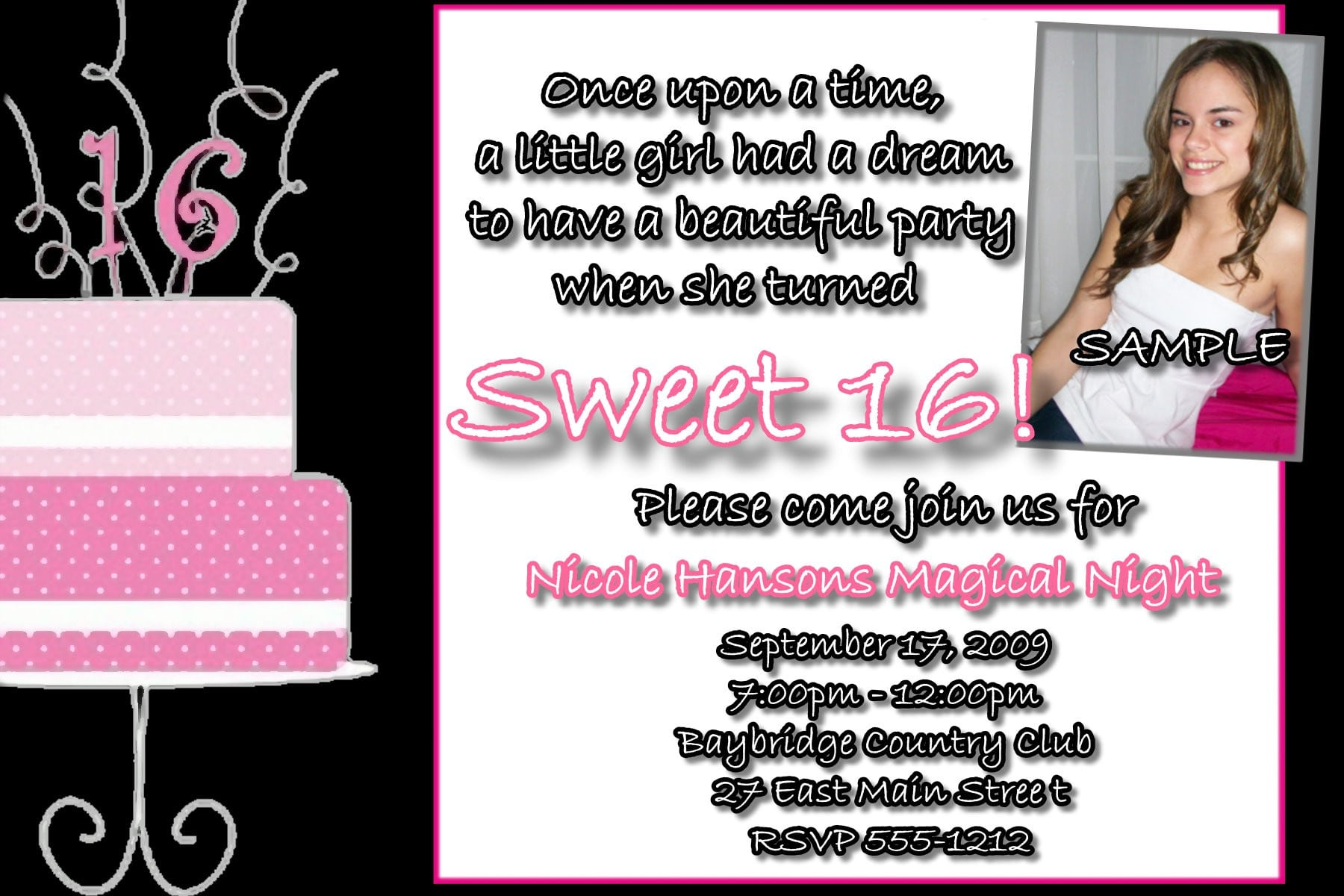 Freeprintablesweetinvitationtemplatesjpeg - Sweet 16 party invitation templates