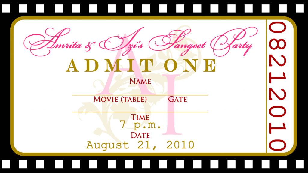 Free Printable Ticket Birthday Invitations – Free Printable Ticket Style Invitations