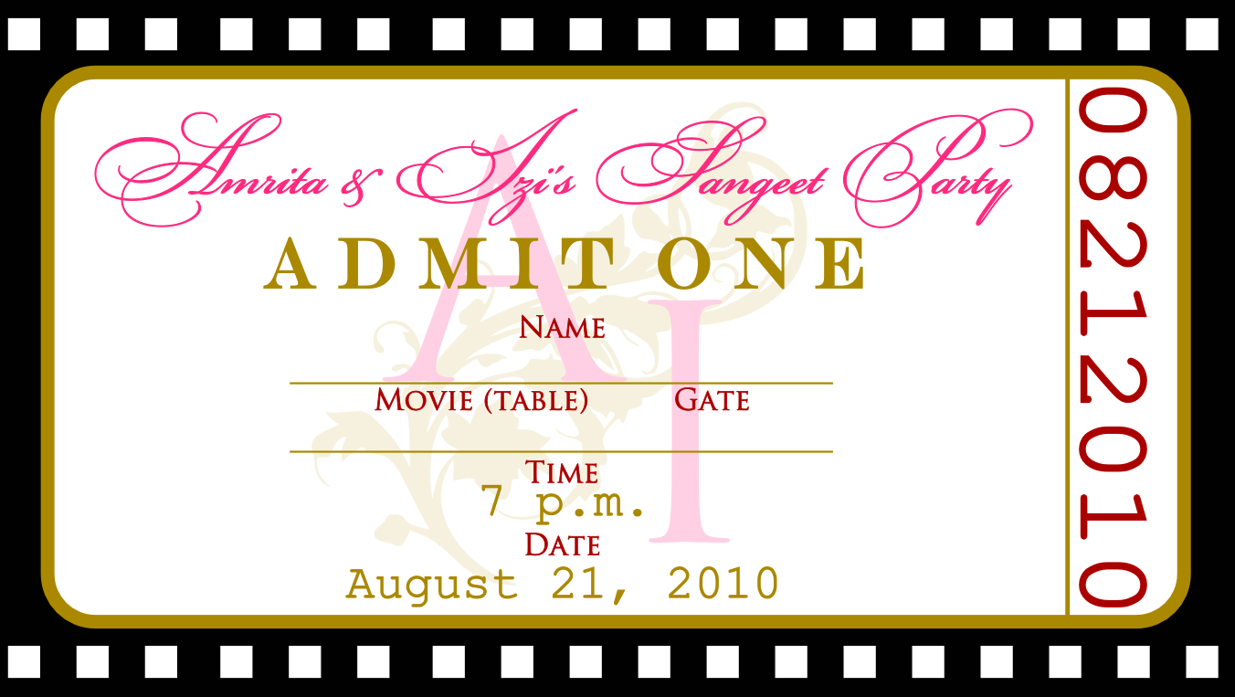 Free Printable Ticket Birthday Invitations