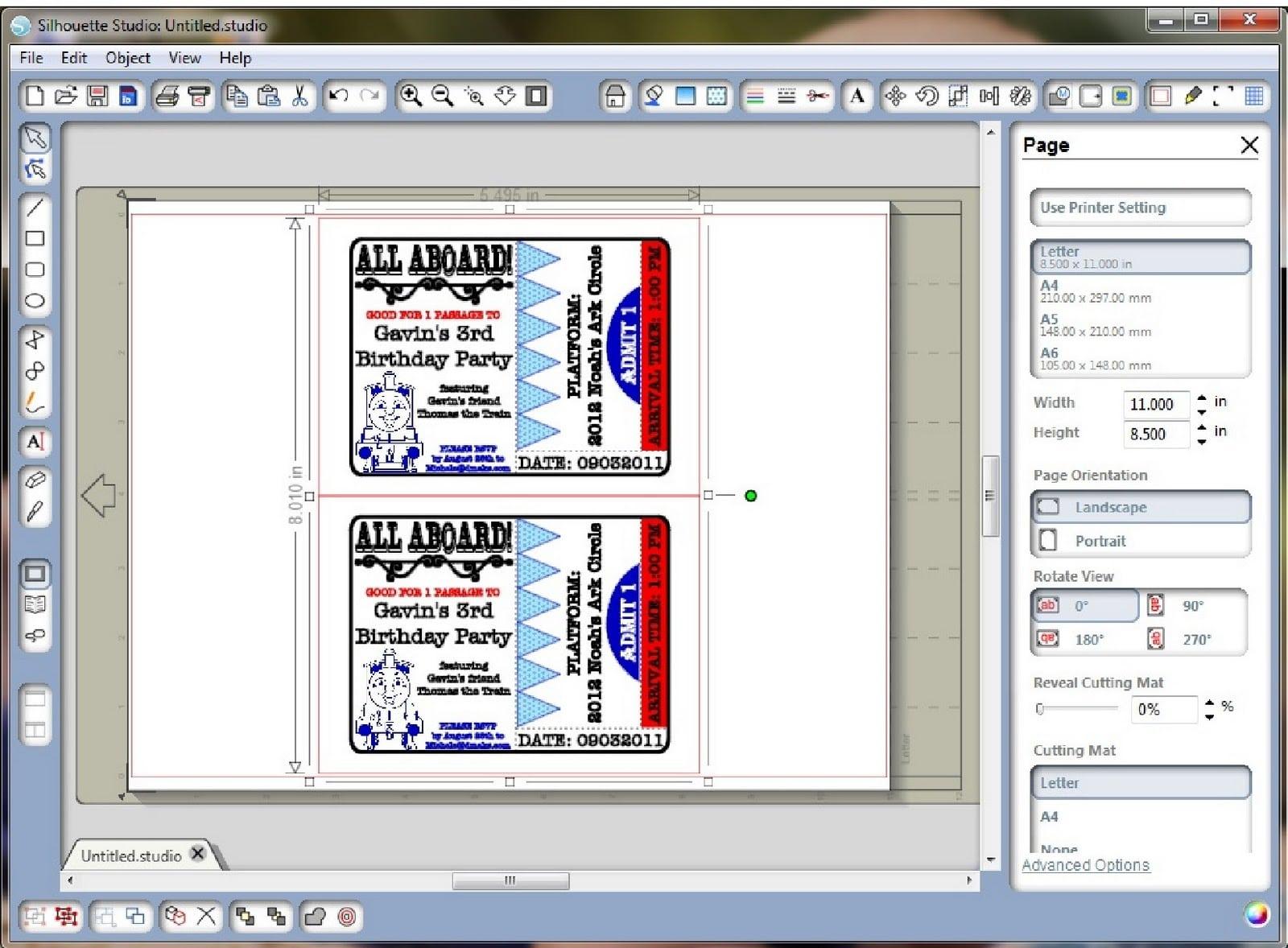Free Printable Train Ticket Invitations