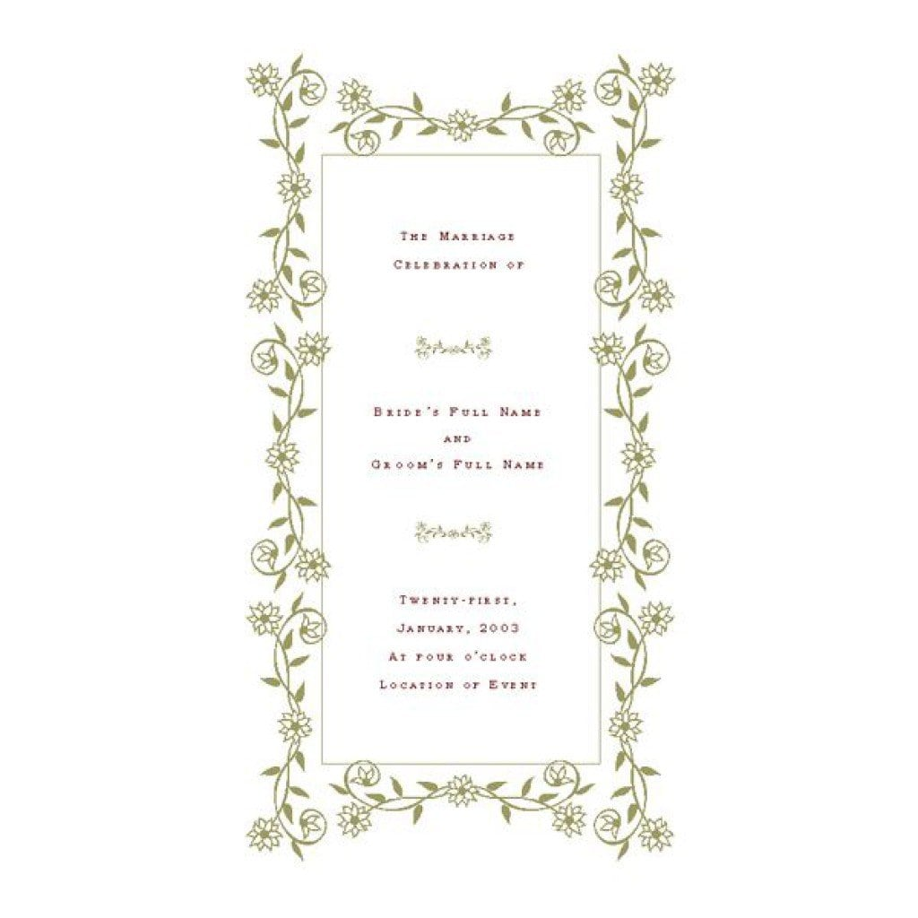 Free Printable Wedding Invitation Templates Download 3