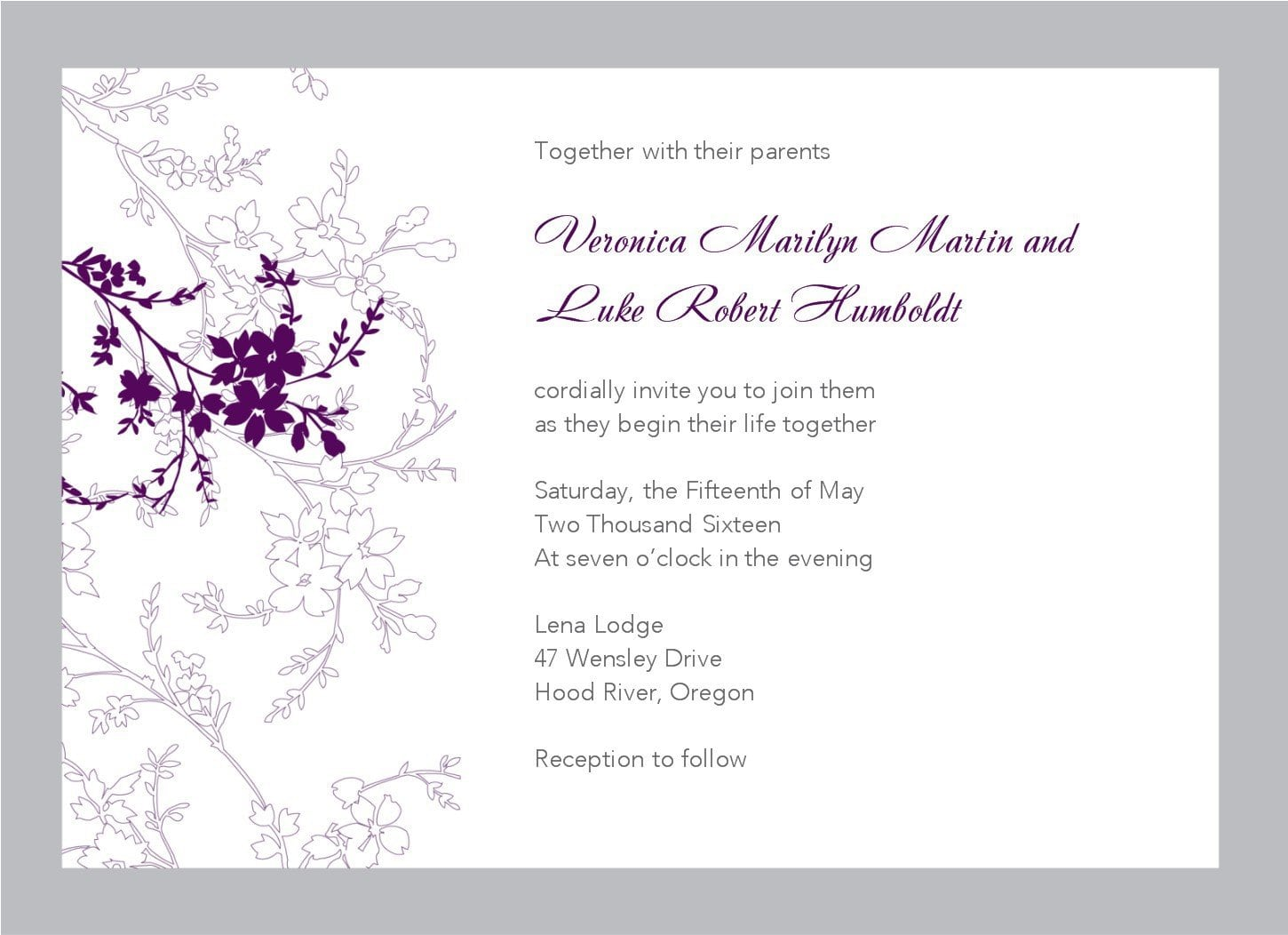 Fall Wedding Invitation Templates Free