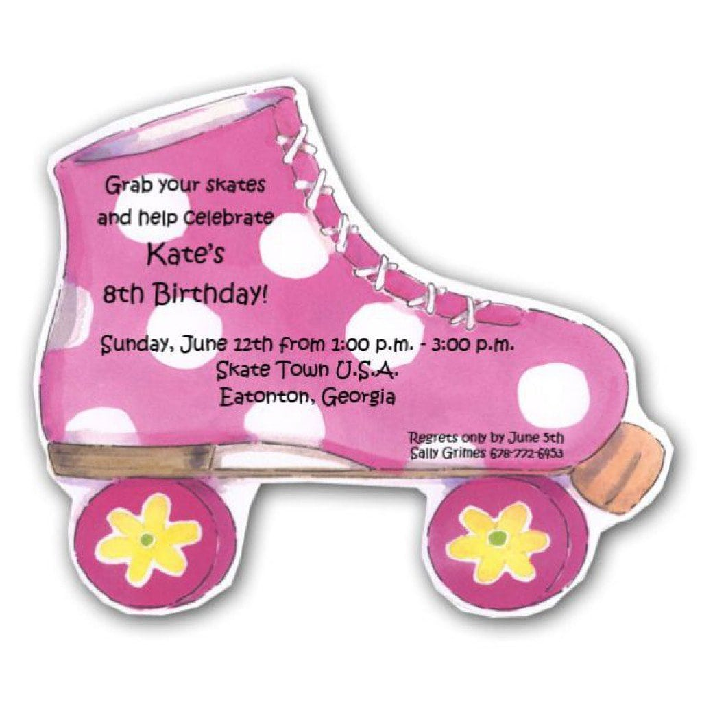 Free Roller Skate Invitation Template 2015