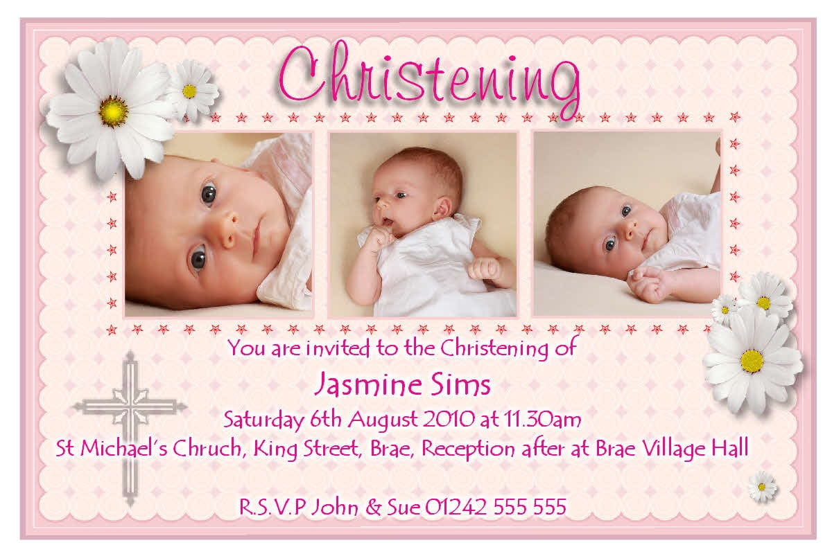 Free Sample Baptismal Invitation Card