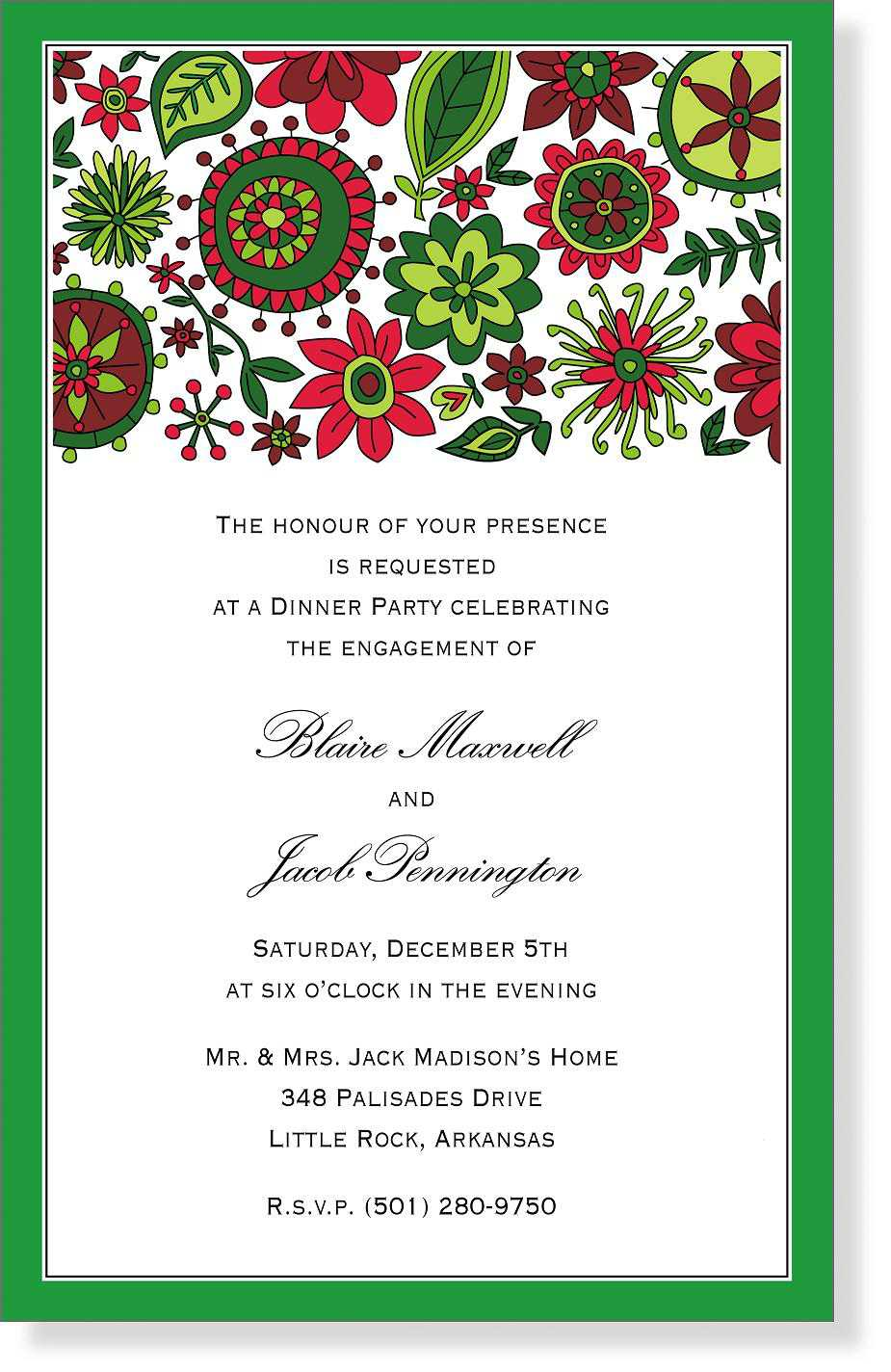 Free Sample Christmas Invitation Templates