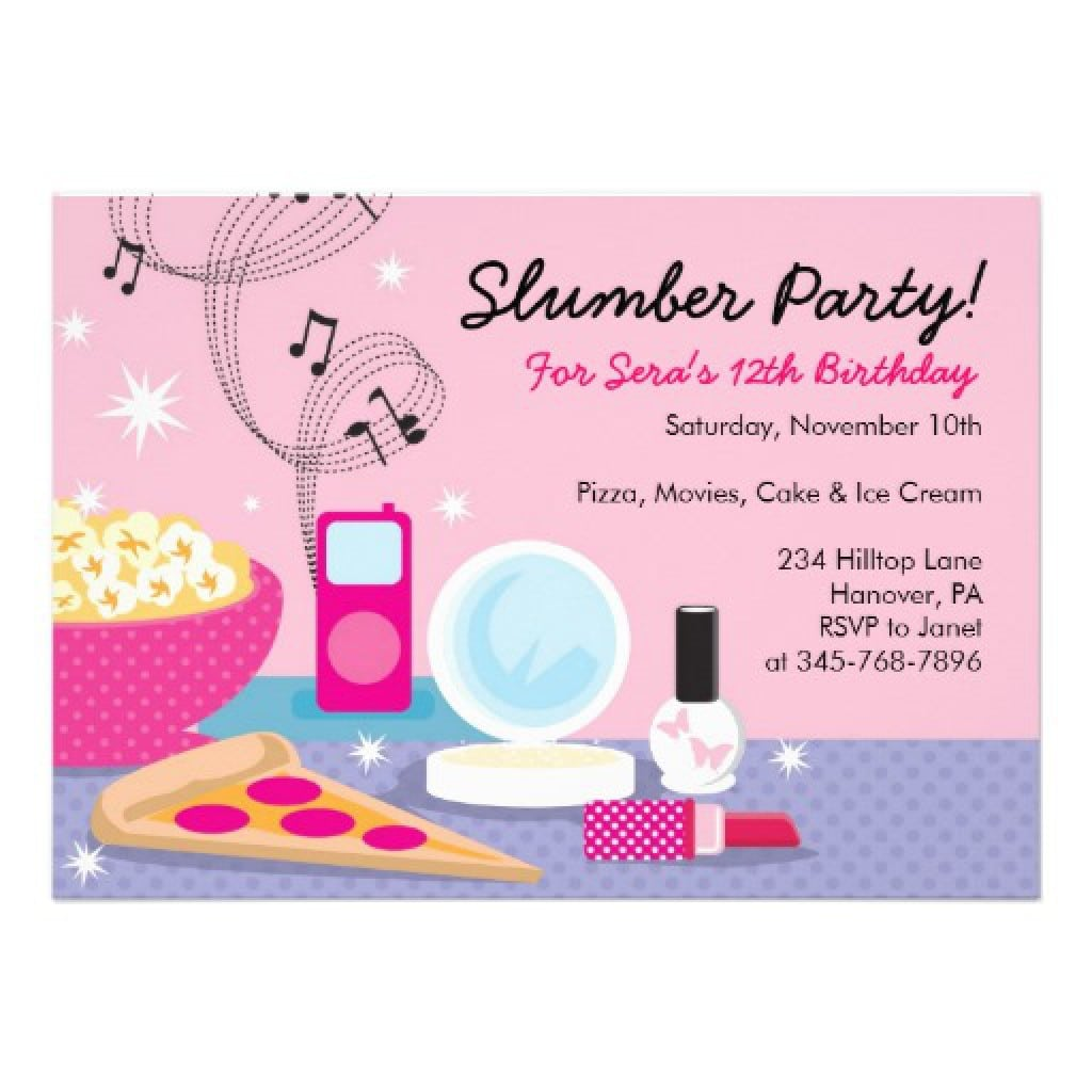 Free Slumber Party Invitation Template 2 HPGeMDBL