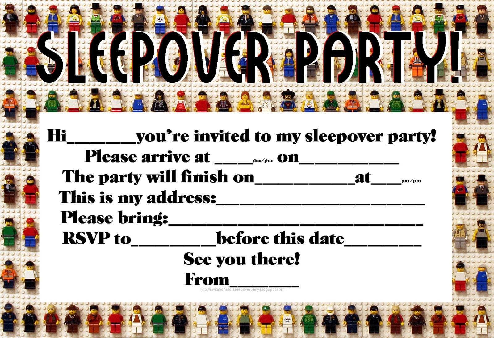 invitations for sleepover party allkdramas.tk