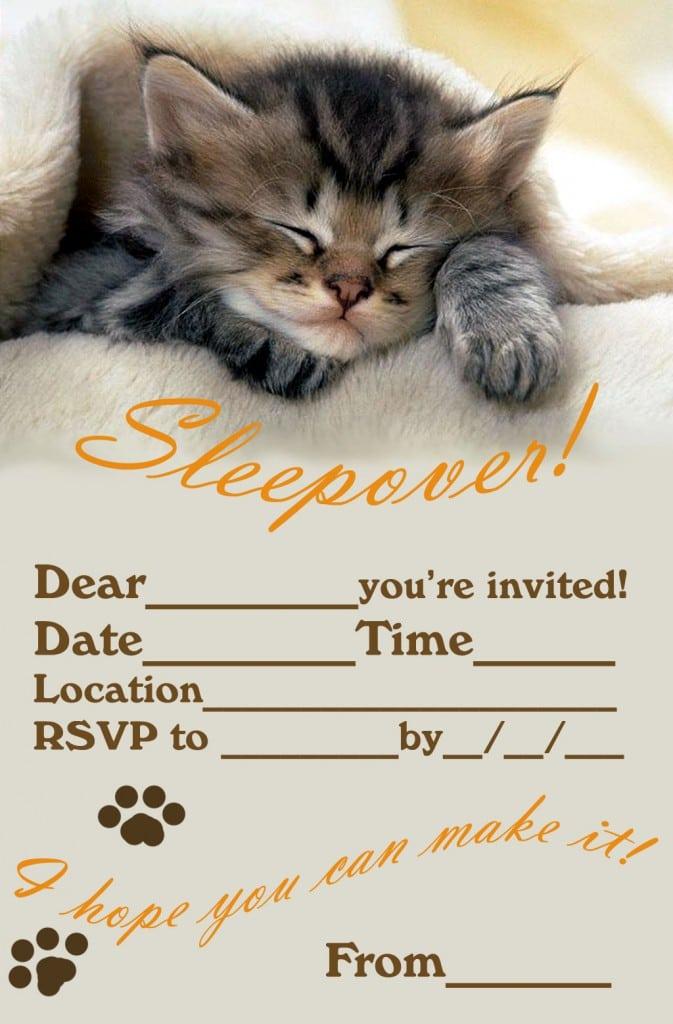 Free Slumber Party Invitation Template