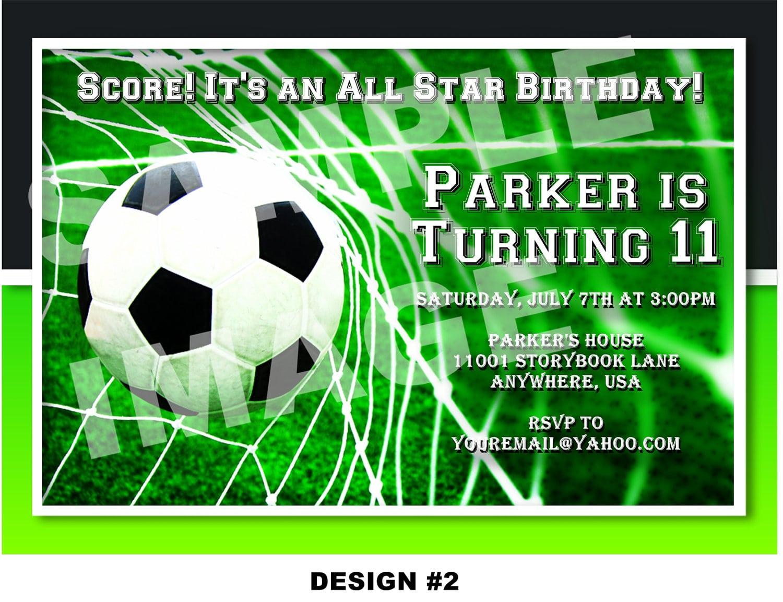 Free Soccer Invitation Templates