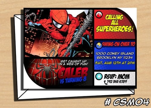 Free Spiderman Birthday Invitation Templates 2