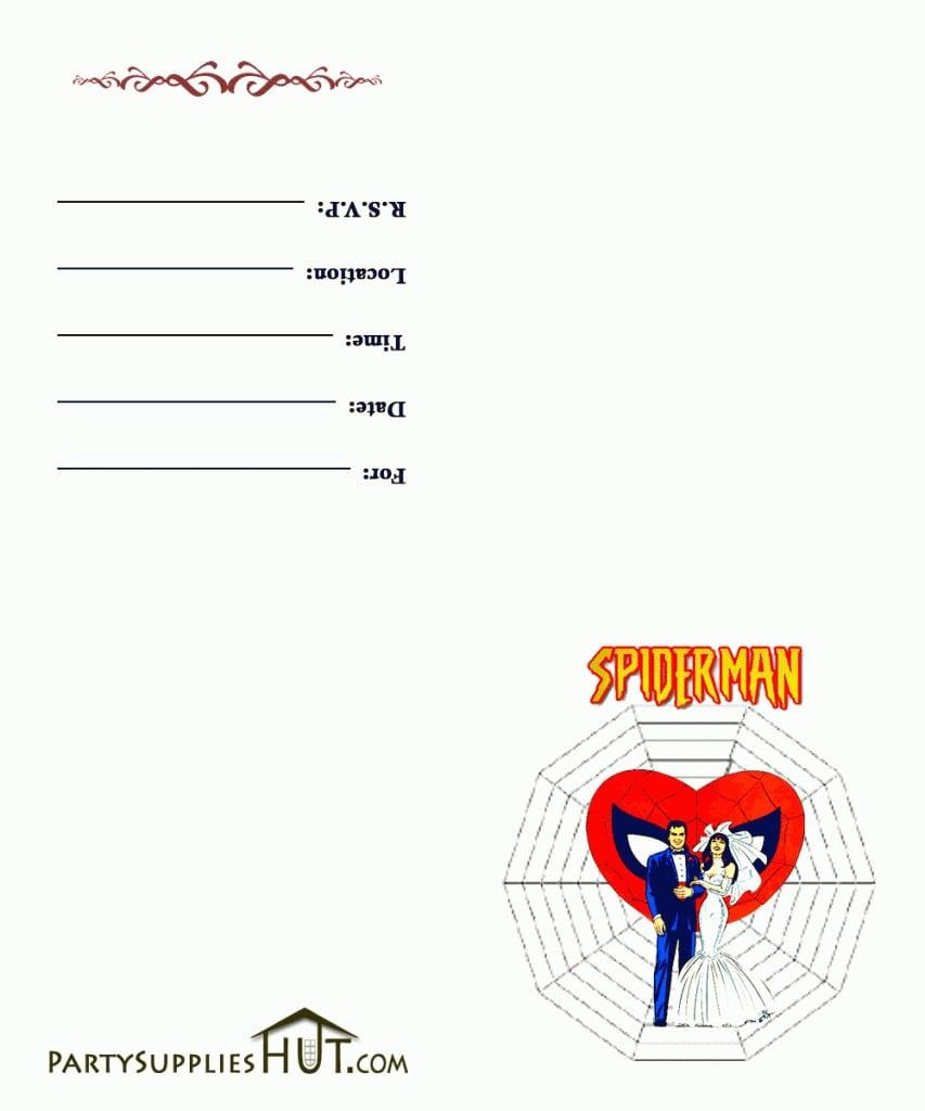Free Spiderman Birthday Invitation Templates 3