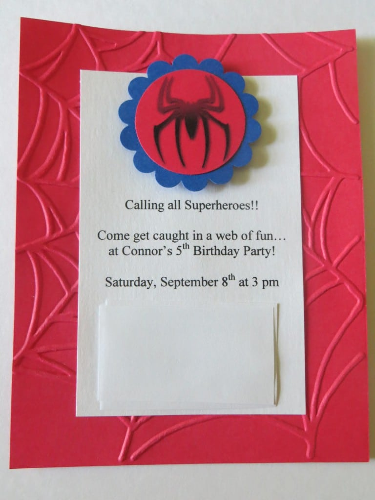Free Spiderman Birthday Invitation Templates