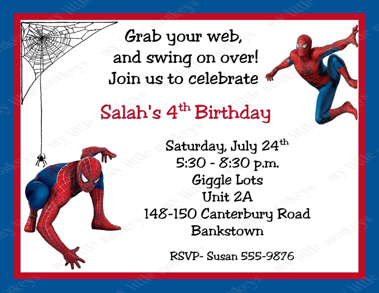 Free Spiderman Birthday Invitations