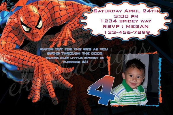 Free Spiderman Invitation Printable 2