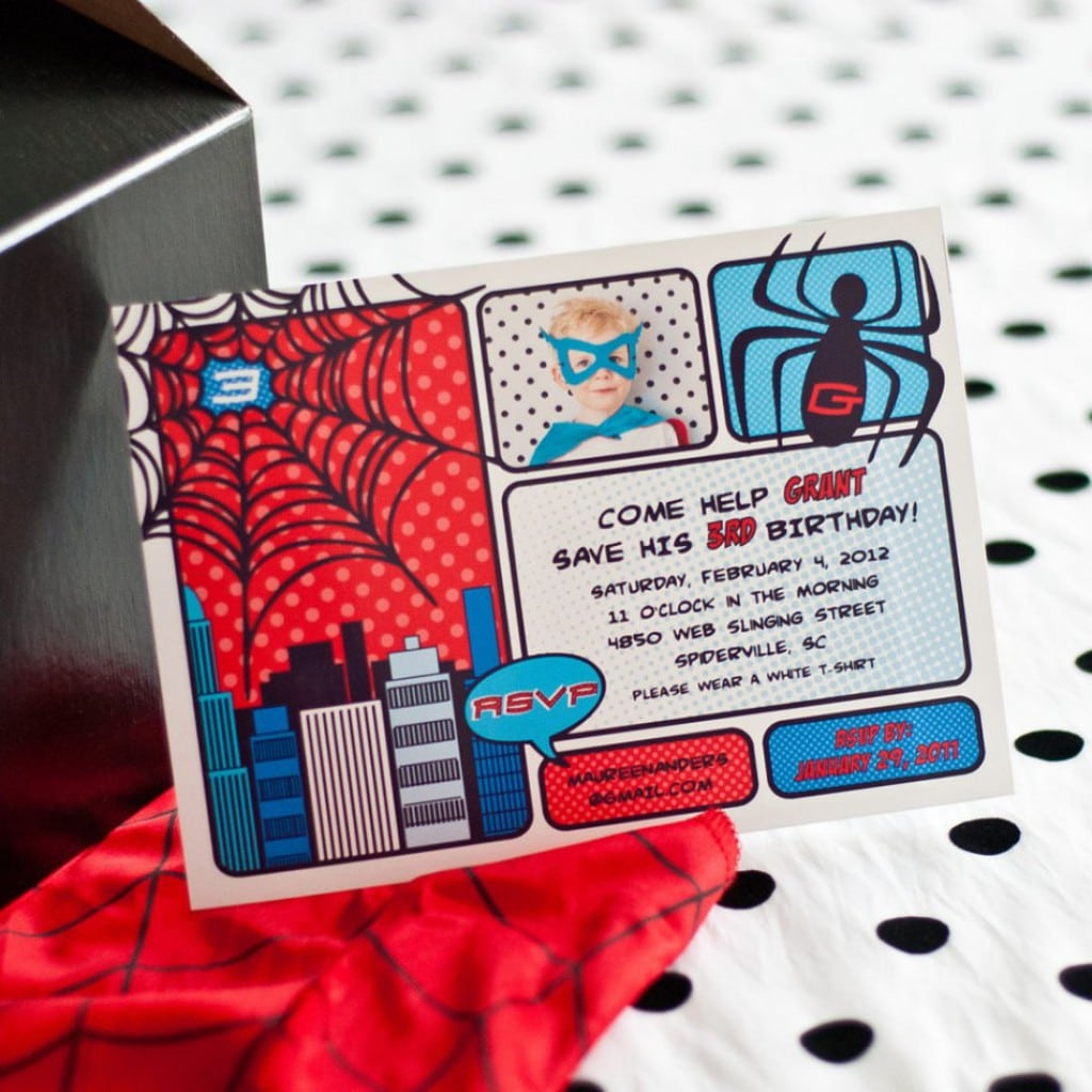 Free Spiderman Invitation Printable