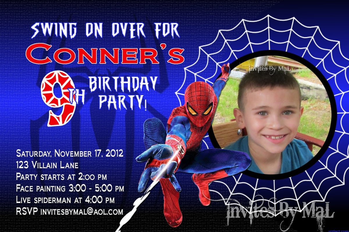 Free Spiderman Party Templates