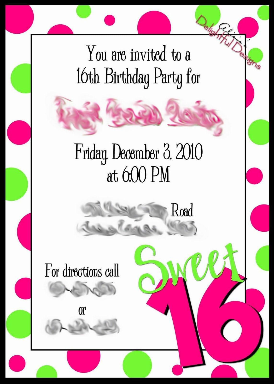 Free Sports Birthday Party Invitation Template
