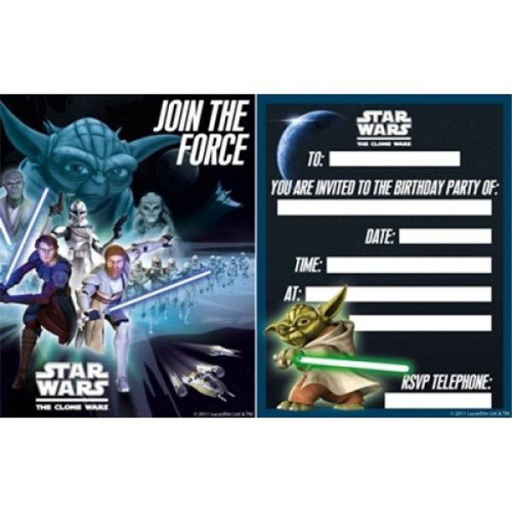 Free Star Wars Invitation Templates 5
