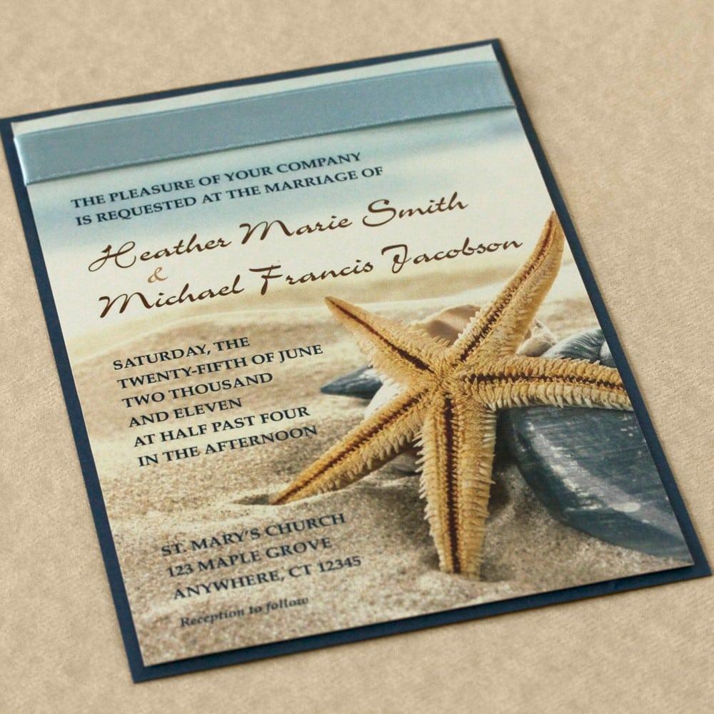Free Starfish Wedding Invites Templates