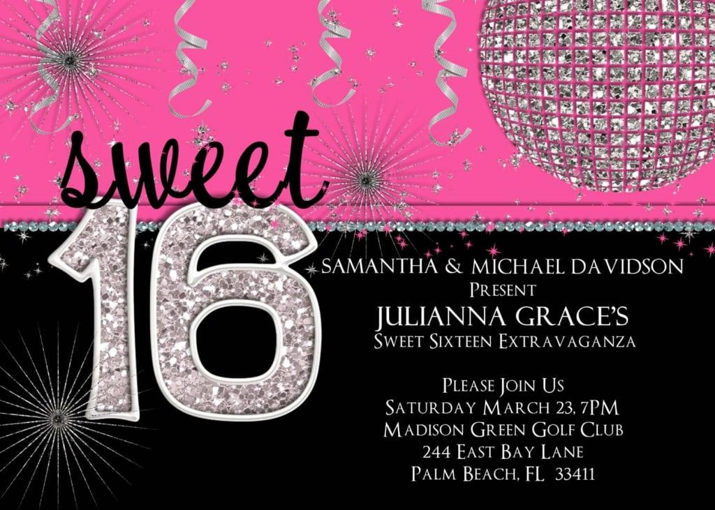 Free Sweet 16 Invitation Templates