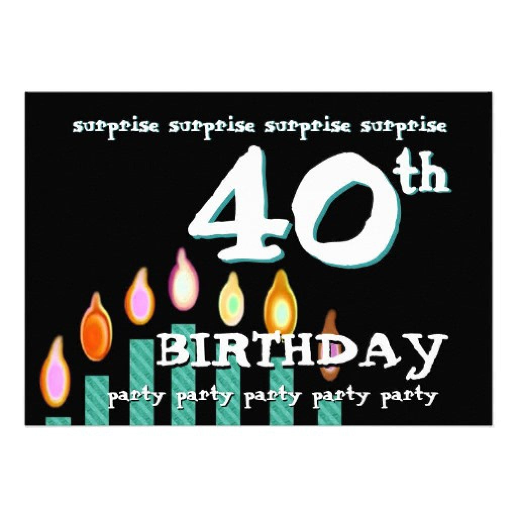 Free Template For Surprise Birthday Party Invitation 2
