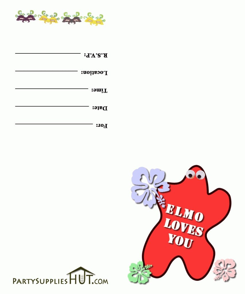 Free Templates For Elmo Birthday Party Invitations 3