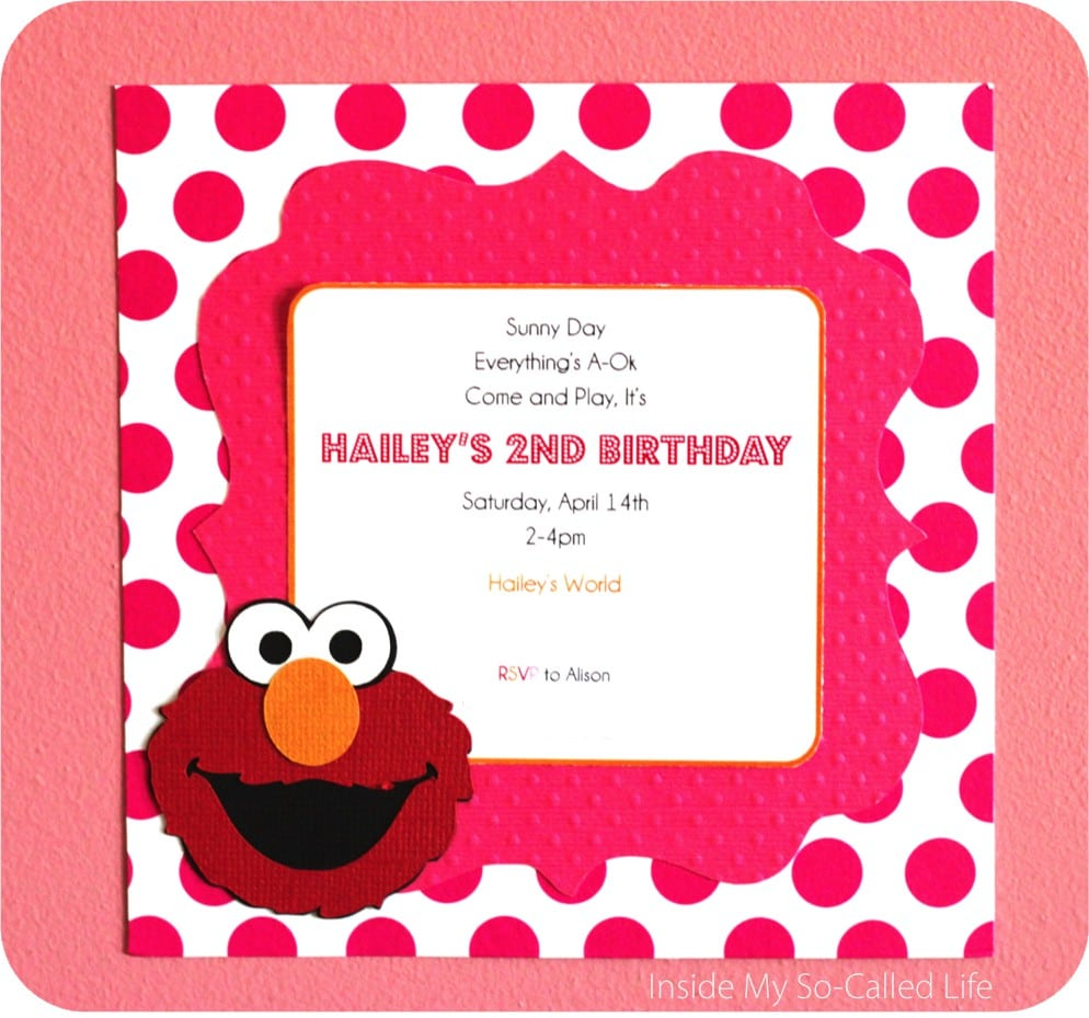 Free Templates For Elmo Birthday Party Invitations