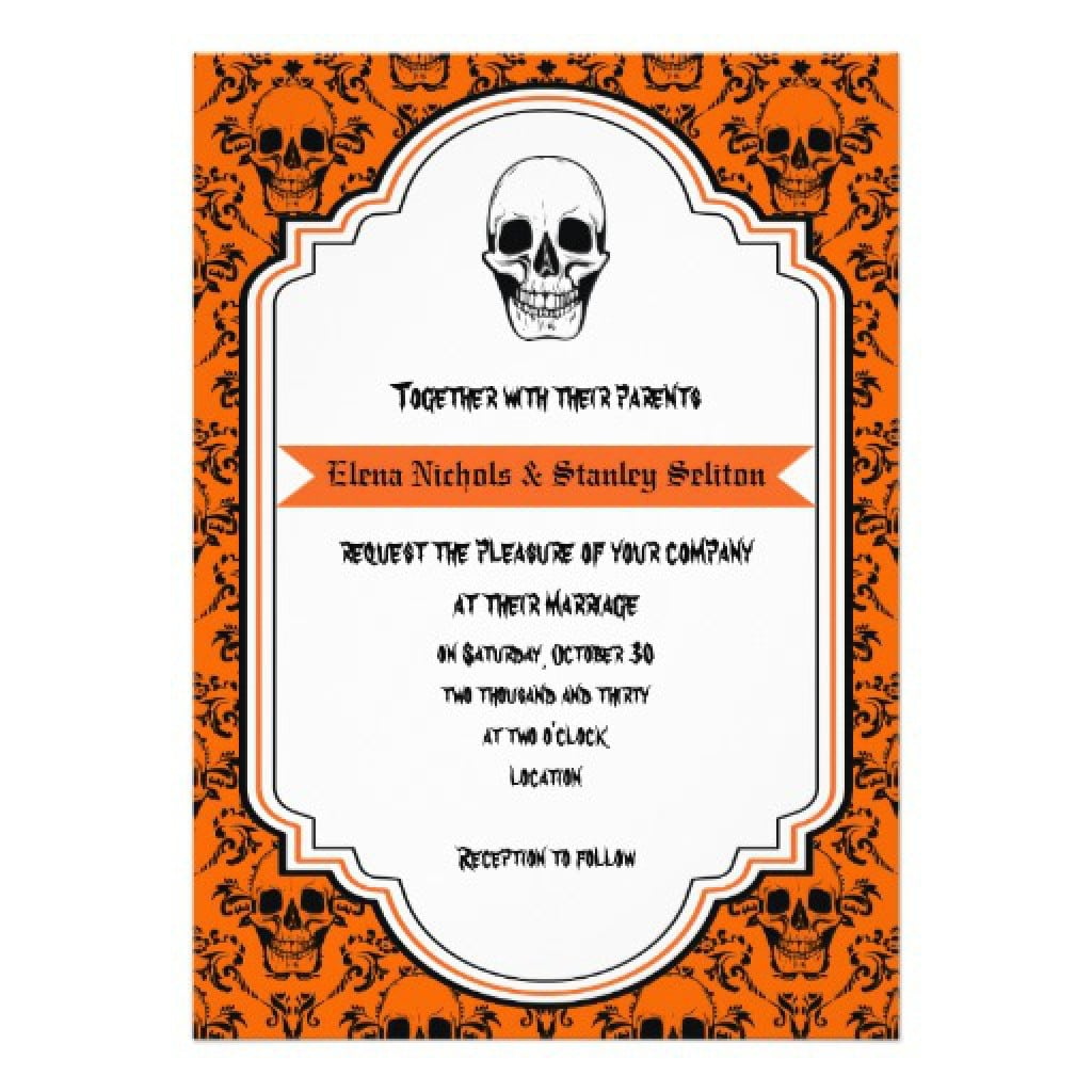 Free Vintage Halloween Invitation Templates 2
