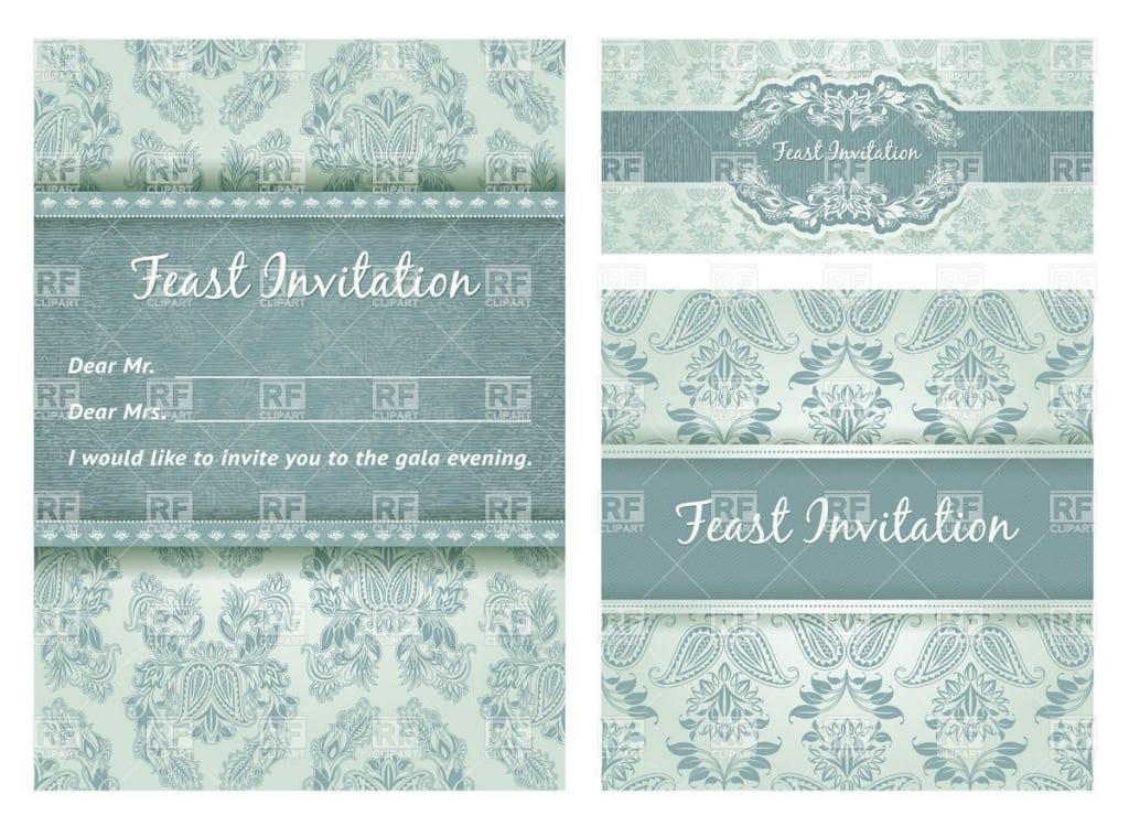 Free Vintage Invitation Vector