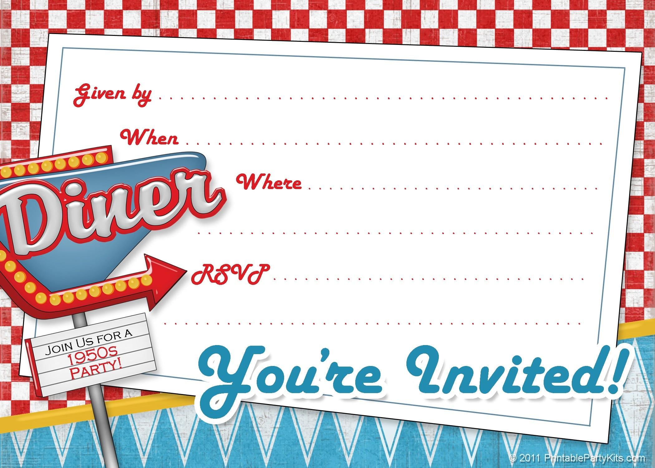 Free Vintage Invitations 2