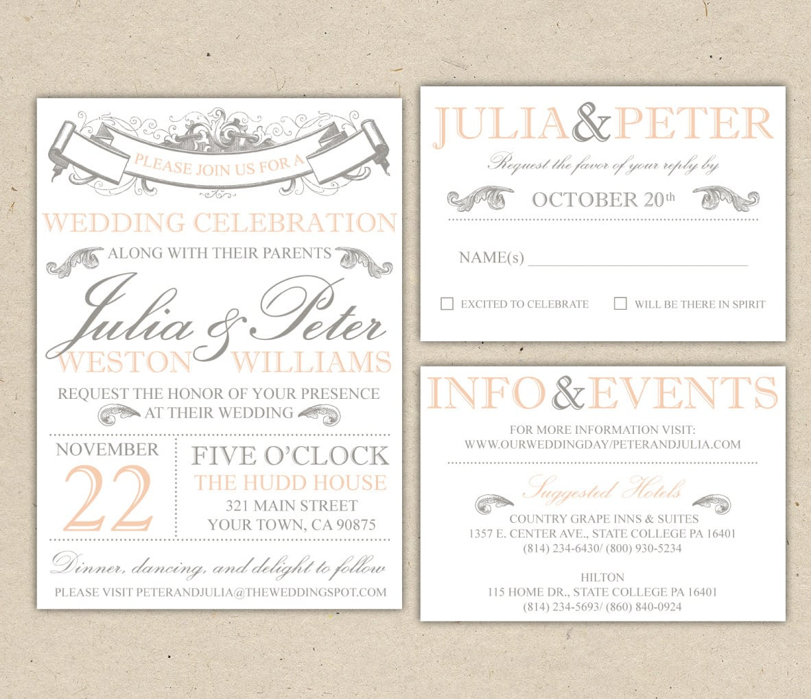 Free Vintage Wedding Invitation Designs